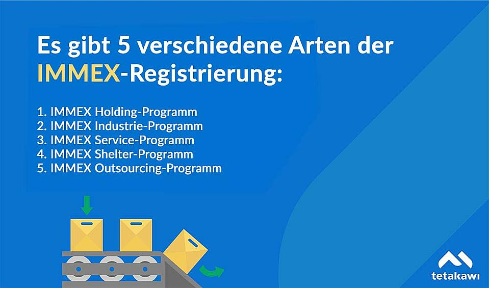 Es gibt 5 verschiedene Arten der IMMEX-Registrierung