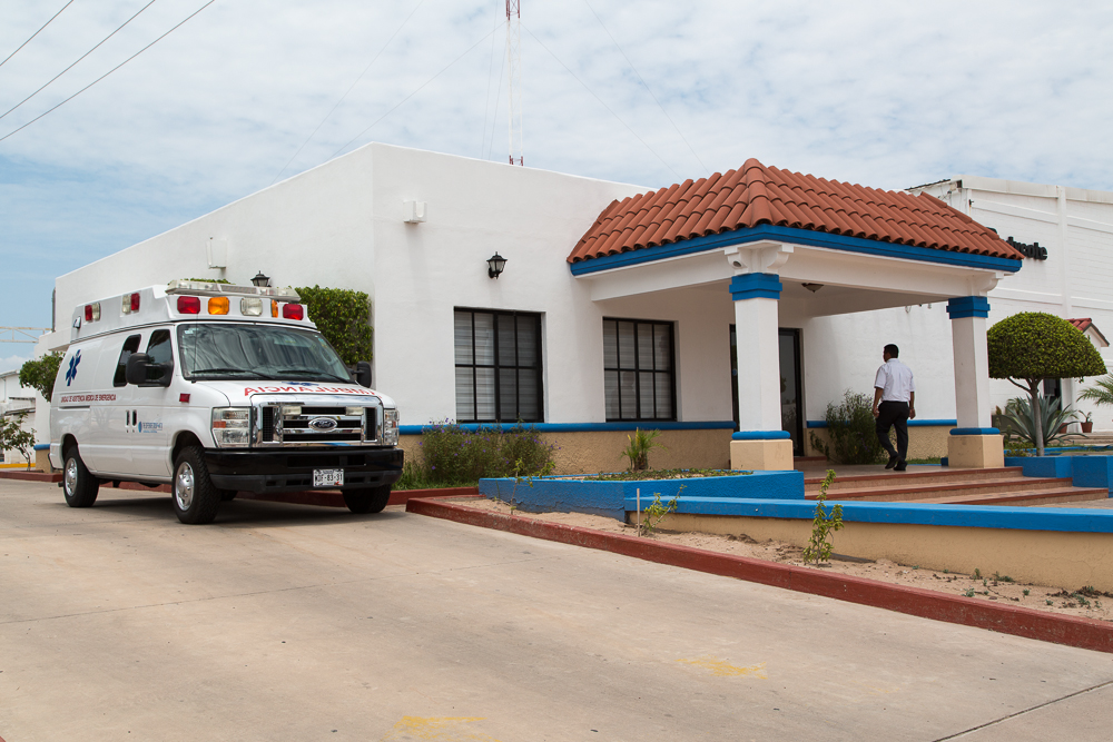 On-site medical center provided to employees in mexico as a retention benefit.
