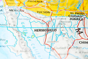 Map of Hermosillo where Ford has a factory