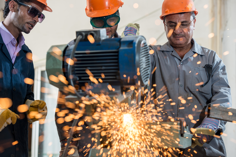 Manufacturing Welder in Mexico working on day shift