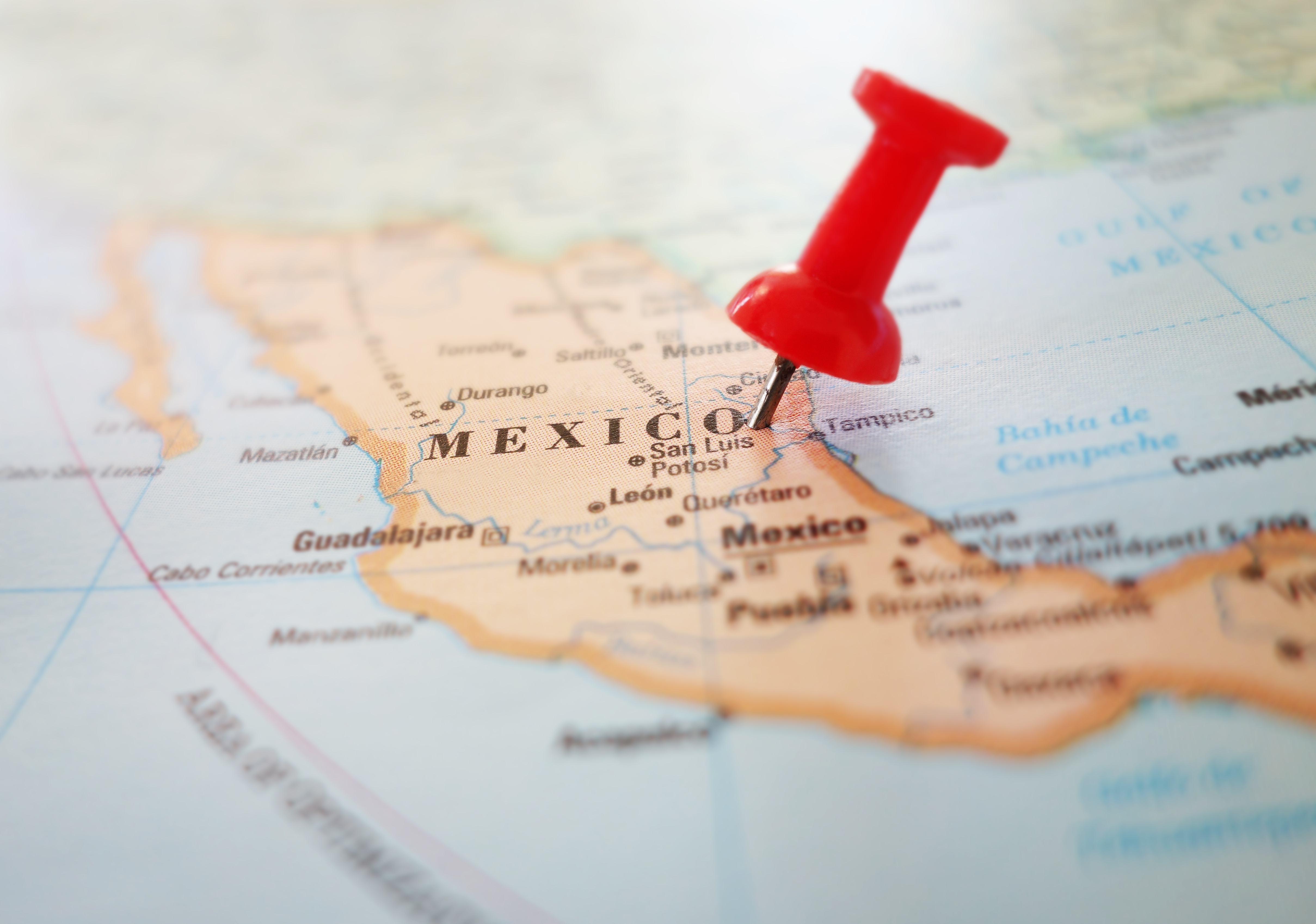 map of manufacturing regions in Mexico