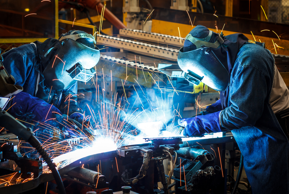 Manufacturing Workers in Mexico Welding