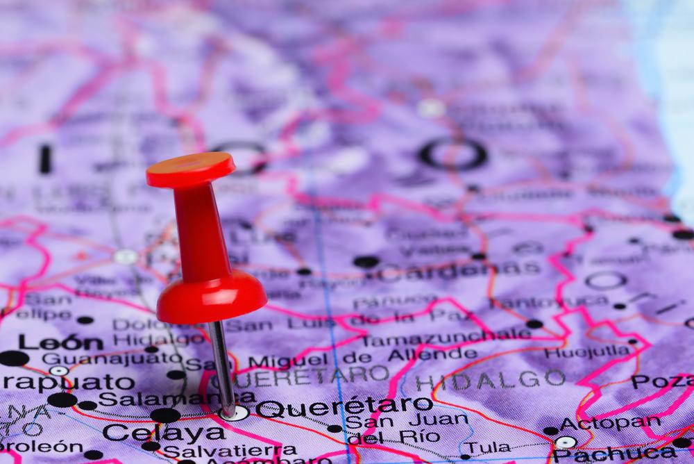 Map of Queretaro and Mexico's bajio Region